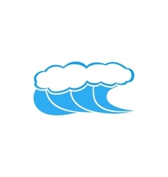 High waves with foam icon simple style vector
