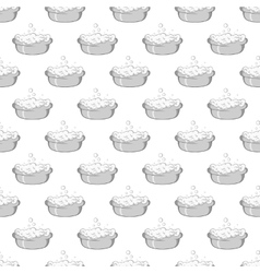 Bath for baby seamless pattern vector