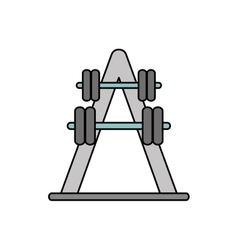 Weight and fitness concept design vector