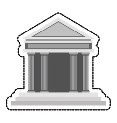Isolated bank design vector