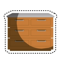 Kitchen chest of drawers vector