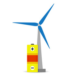 accumulation wind energy vector image