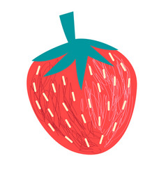 Graphics big tasty strawberry berry vector