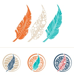 Feather Design Collection vector image