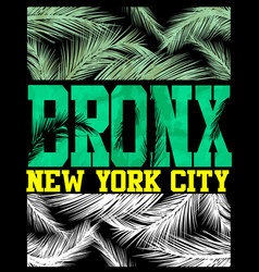 New york bronx t shirt design vector