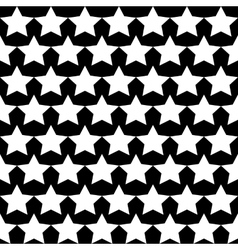 Seamless star monochrome background vector