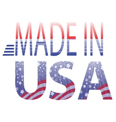 Made in usa text vector