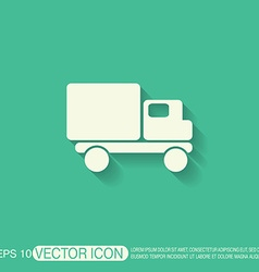 Truck logistic icon symbol icon laden truck vector