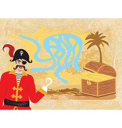 Maze game pirate looking for gold vector