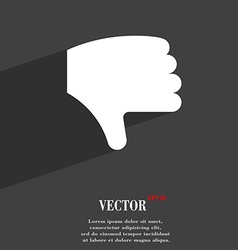Dislike thumb down hand finger down icon symbol vector