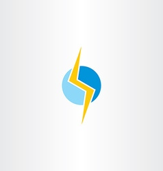 Lighting bolt yellow blue logo vector