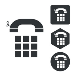 Cellphone icon set monochrome vector image