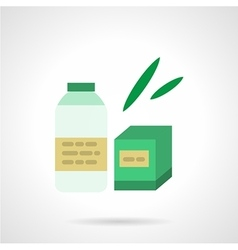 Milk formula flat color icon vector