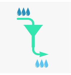 Water filtration concept vector