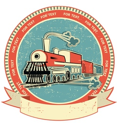 locomotive label vintage vector image