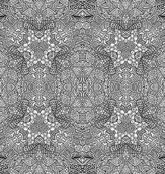 monochrome hand drawn seamless outline pattern vector image
