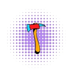 Axe for a firefighter icon comics style vector