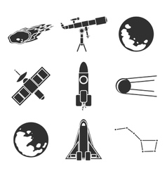 Icons of space and astronomy vector