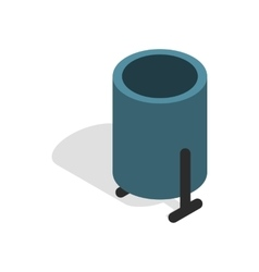 Outdoor bin icon in isometric 3d style vector