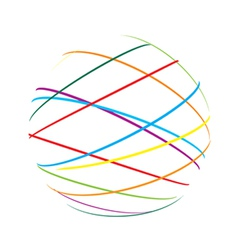 Abstract sphere color lines vector