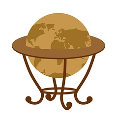 Antique vintage globe on stand Vintage school vector image