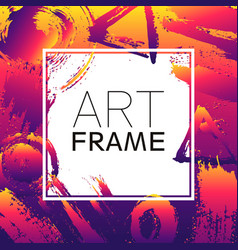 Art frame square gradient yellow violet color vector