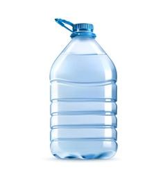 Big plastic bottle of potable water barrel with vector