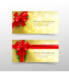 Christmas card template for invitation and gift vector image