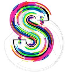 Colorful font letter s vector