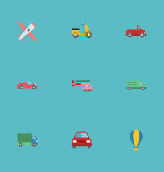 flat icons transport luxury auto chopper and vector image vector image