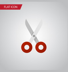 isolated scissors flat icon shears element vector image