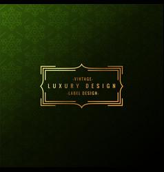 Luxury label badge vector