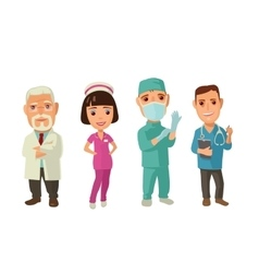 Male faemale doctor character set icon vector image
