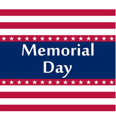 memorial day in the united states vector image
