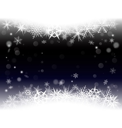 New year eve christmas background with snowflakes vector