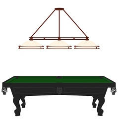 Pool table and lamp vector