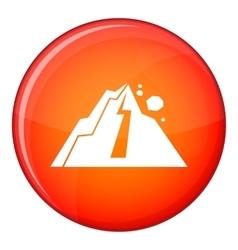 Rockfall icon flat style vector