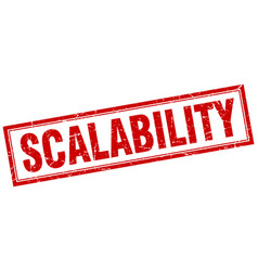 Scalability square stamp vector