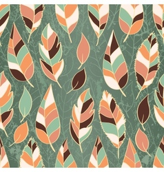 seamless leaves wallpaper vector image vector image