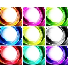 Set of swirl backgrounds vector image vector image