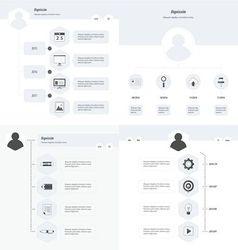 Set of timeline design set black and white style vector