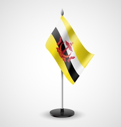 Table flag of brunei vector