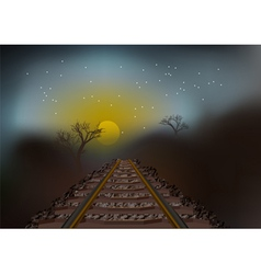 Train tracks perspective vector