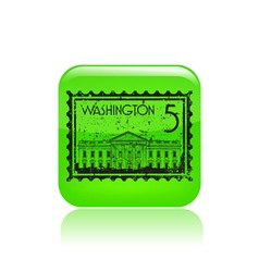 washington icon vector image vector image