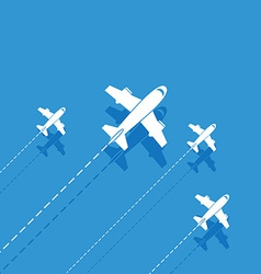 White aircraft on a blue background vector