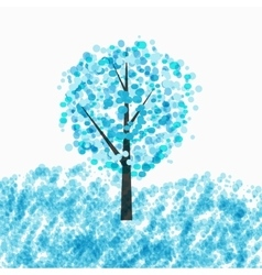 Abstract beautiful winter tree background vector