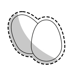 Isolated eggs design vector