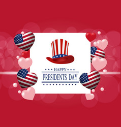 Presidents day greeting card the inscription vector