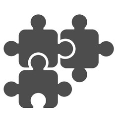 Puzzle elements icon vector