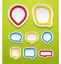 Bubbles for speech collection vector image